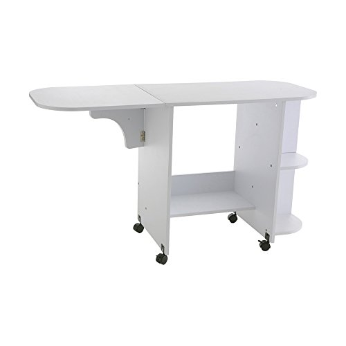 Southern Enterprises Eaton Rolling Craft Station Sewing Table