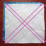 When I sewed these together both squares were evenly on top of each other.