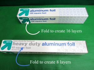 All you need is a piece of aluminum (tin) foil.