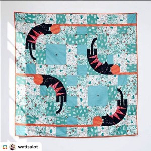 Cotton + Steel offers this free pattern for this Cat Lady quilt on their site.