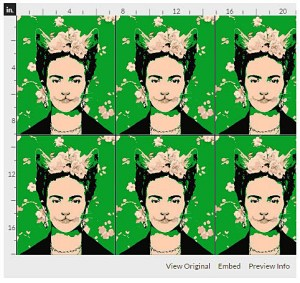 This Frida Cat is one of my current faves by designer Cynetik.