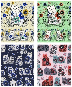 Inspired by designer Sarah Watts' travels to Portugal, From Porto with Love features cats designed with old world charm.