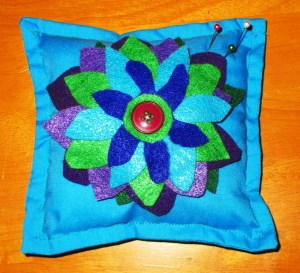 Felt Flower Pillow Pincushion