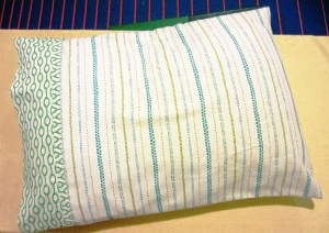 A classic pillowcase for bedding closes 1 of 2 ways.