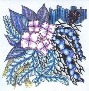 Zentangle design flows free like a river of creativity.