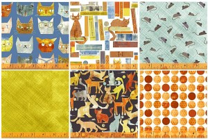 Maria Carluccio's Smarty Cats fabric line is for the true lover of traditional fabrics & traditional cats.