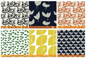 For the lovers of all things Scandinavian, Lotta Jansdotter fabric line, Hemma.