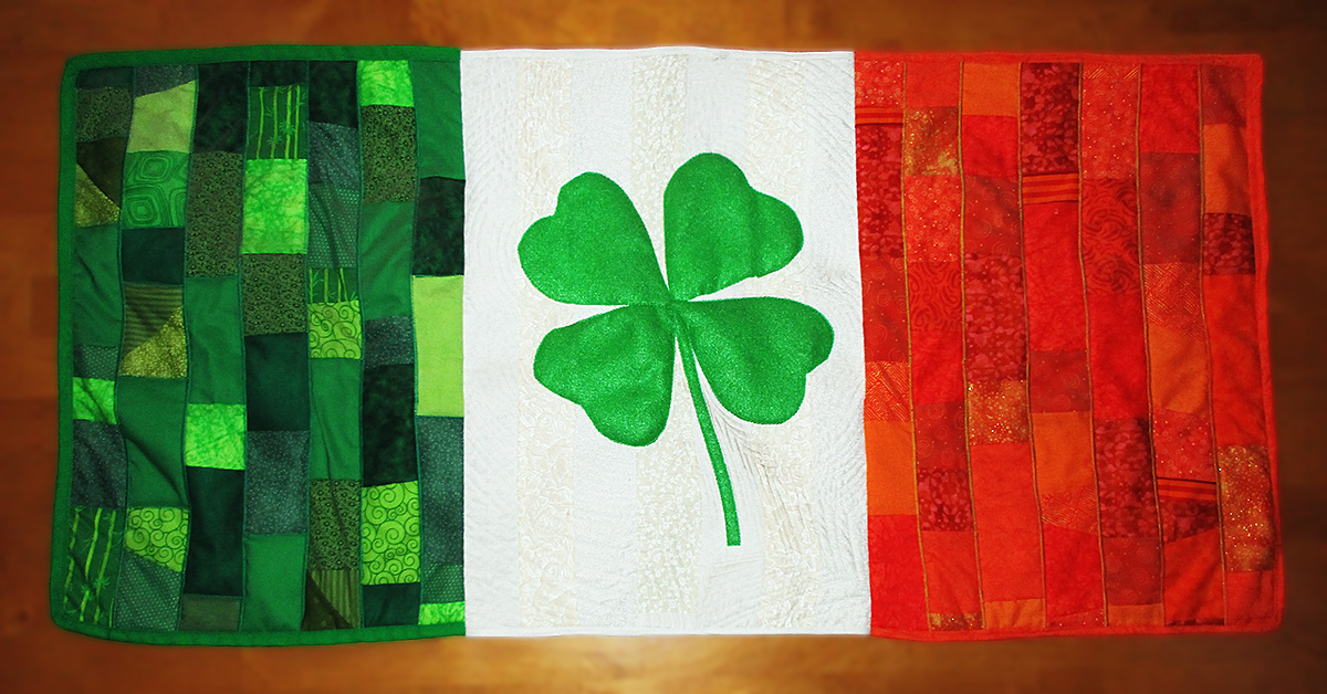 How to Sew a Luck O' the Irish Flag Quilt for Your Wall
