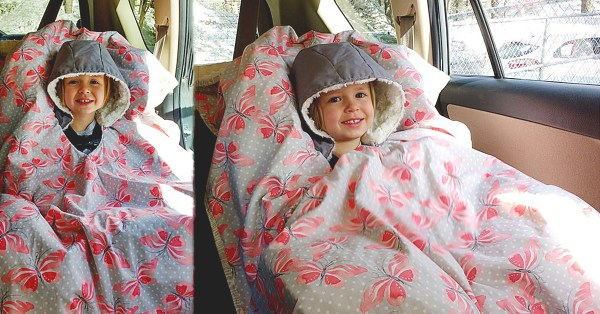 DIY Car Seat Poncho