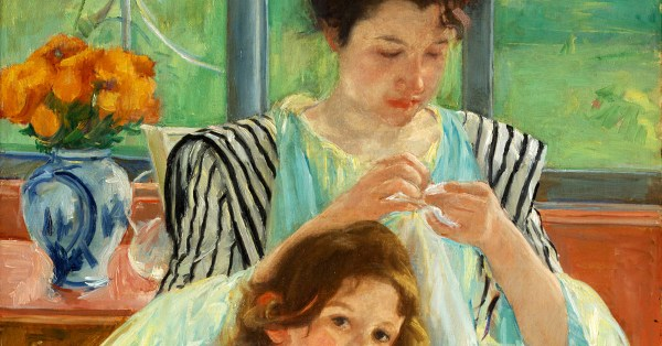 Sewing in 1900: Mary Cassatt's Take