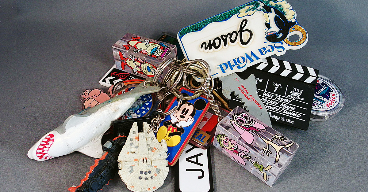 Scrap-Fabric Keychain!