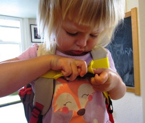 If your child is really little, they may not be able to manage the clasp on their own.