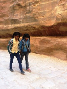 Young men in Petra.