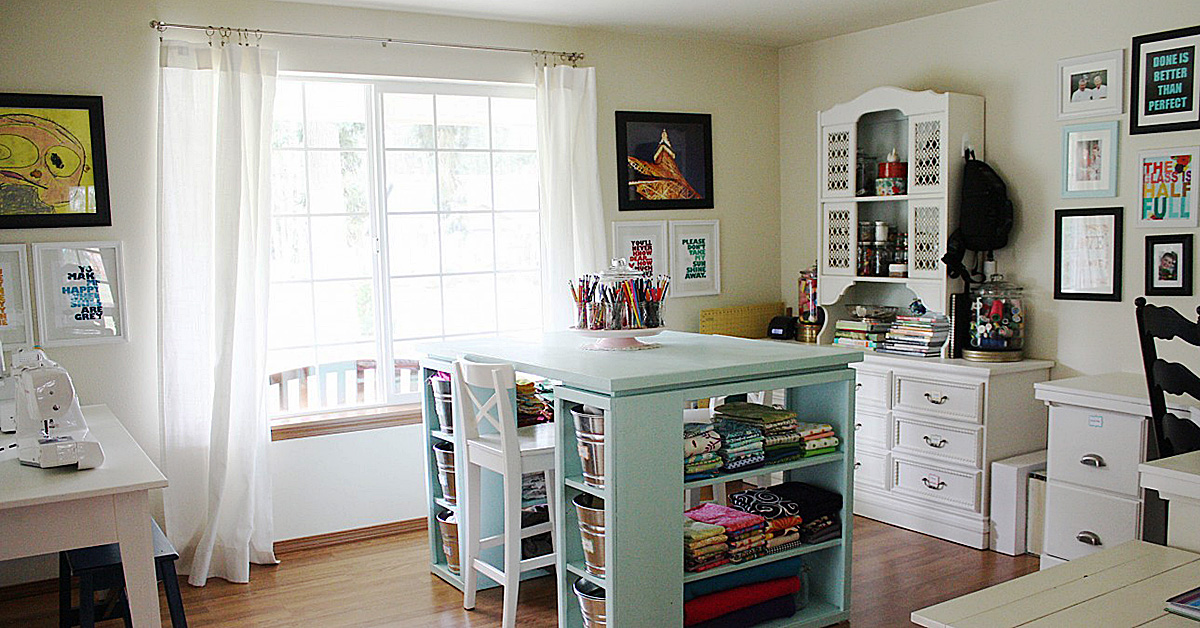 craft room lighting ideas. optimal lighting in your sewing room craft ideas