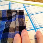 """Step 2: Fold again to about 1"""" width. Press again or pin to insure accuracy. Then, finally, last step!"""