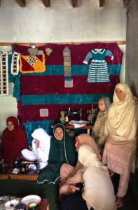 I tried to convey how I really enjoyed meeting the ladies at the Sewing Centre.