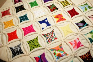 These quilts are not necessarily known for bright coloring.