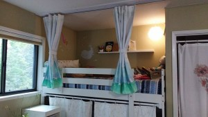 Last fall I wrote a post about the bunk bed privacy curtains I created for my youngest daughter for her bottom bunk.