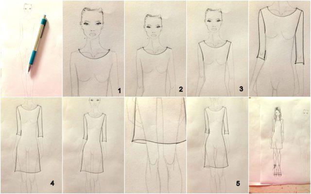 How to color fashion design sketches quick and easy tutorial