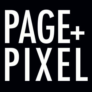 Page and Pixel logo bw