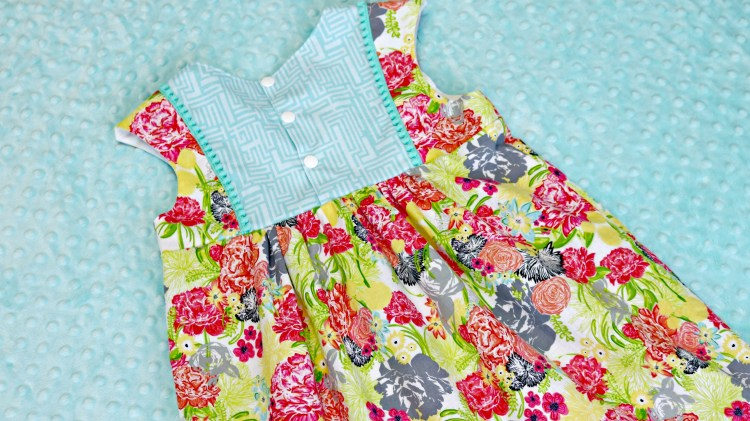 Fresh Stitch Patterns Playgroup Dress Modern Eclectic by Blend Fabrics Khristian Howell Back Full
