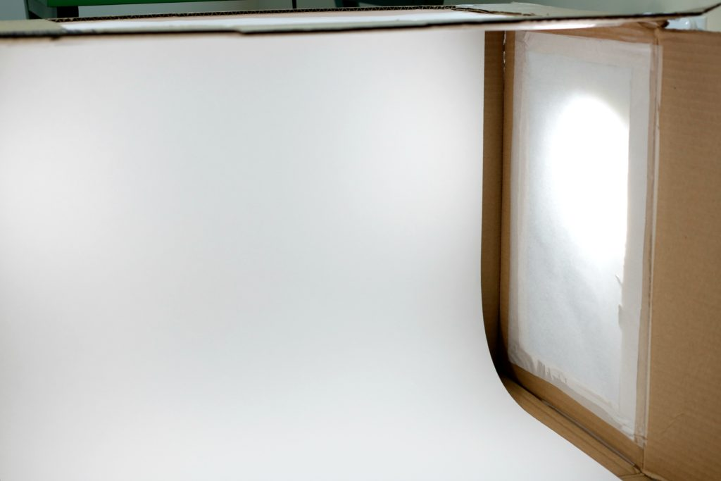 DIY Photography Light Box Empty