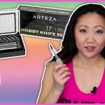 Arteza Hobby Knives Set Review + Demo | CRAFT SUPPLIES