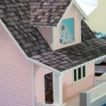 Building a Dollhouse: Dying and Applying Shingles to Roof | Beachside Bungalow Kit Episode 5