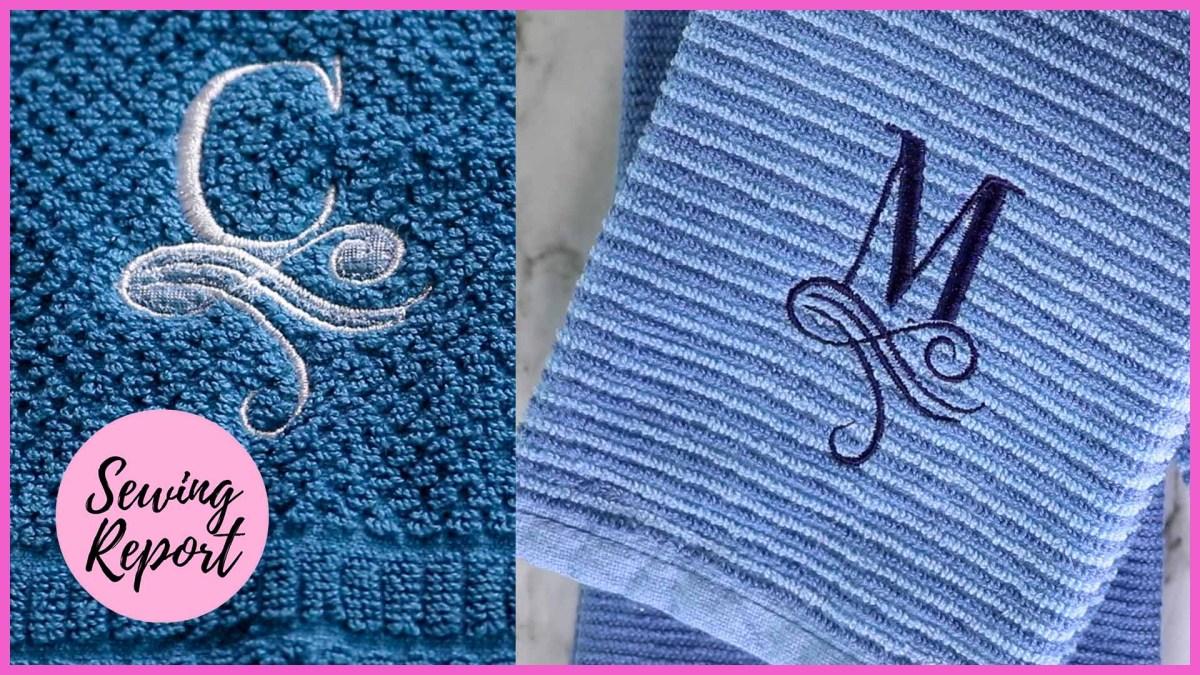 DIY Monogram Towels 2 Easy Ways | Brother PE800 Embroidery Machine