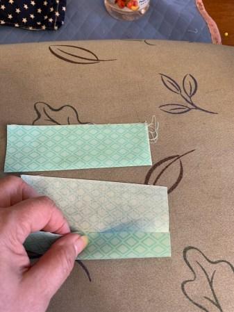 Fabric mask band folding example