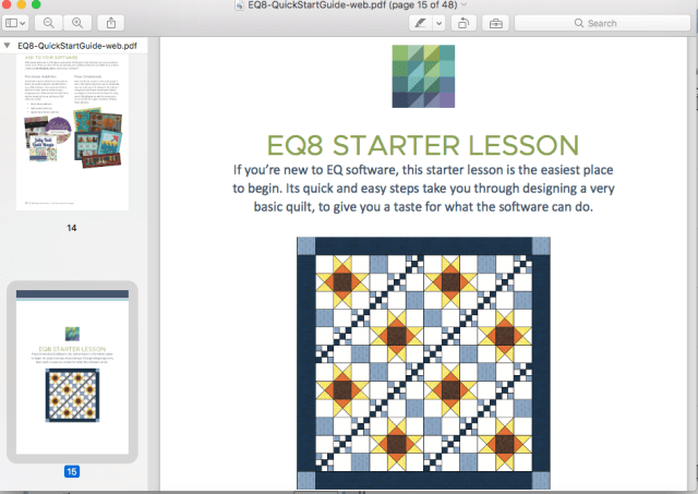 Lessons for Electric Quilt 8