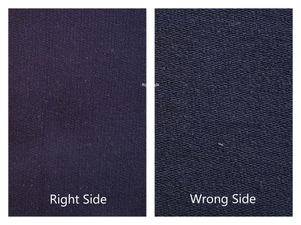 Cotton Fleece Unbrushed Navy