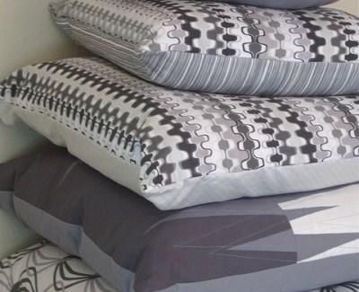 ::  Shades of Grey Pillows  ::