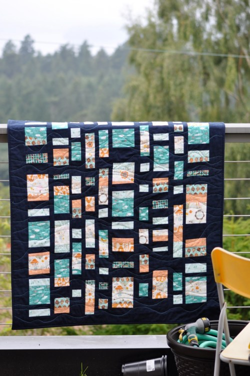 sew katie did/improv coin quilt