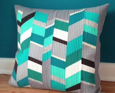 Stripped Herringbone Pillows