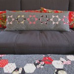sewkatiedid:throwing stars pillow:to the point triangle workshop