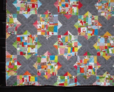 Merry Moderns (Split Personality) Christmas Quilt