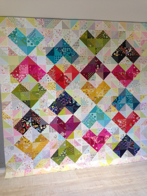 SEW KATIE DID:warm and cool value quilt hearts