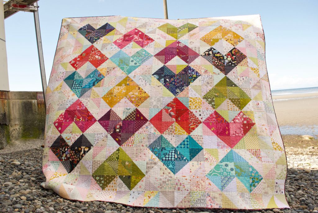 sew katie did | Seattle Modern Quilting Studio | Heart Value Quilt