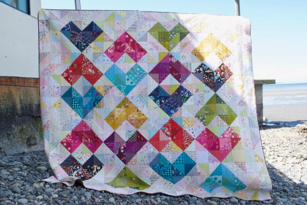 Sew Katie Did | Seattle Modern Quilting Studio | Heart Value Quilt