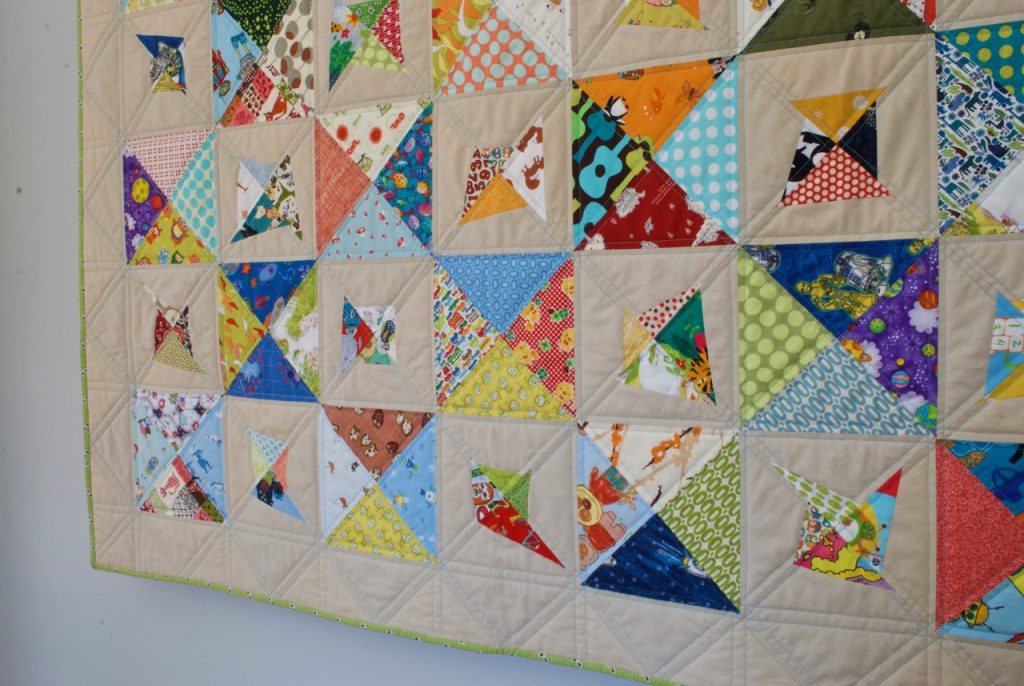 sew katie did | Seattle Modern Quilting Studio | On Point Scrappy Double-Trouble Quilt