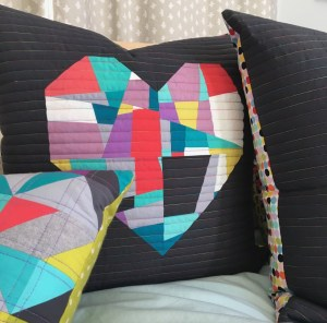 Sew Katie Did | Seattle Modern Quilting & Sewing Studio | Fracture Heart Pillows | Split Personality Quilt Block Workshop