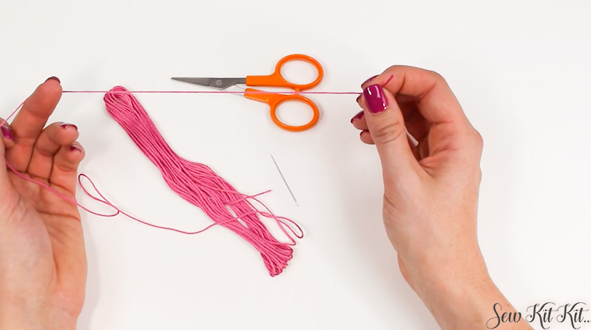 How to Separate an Embroidery Floss 1