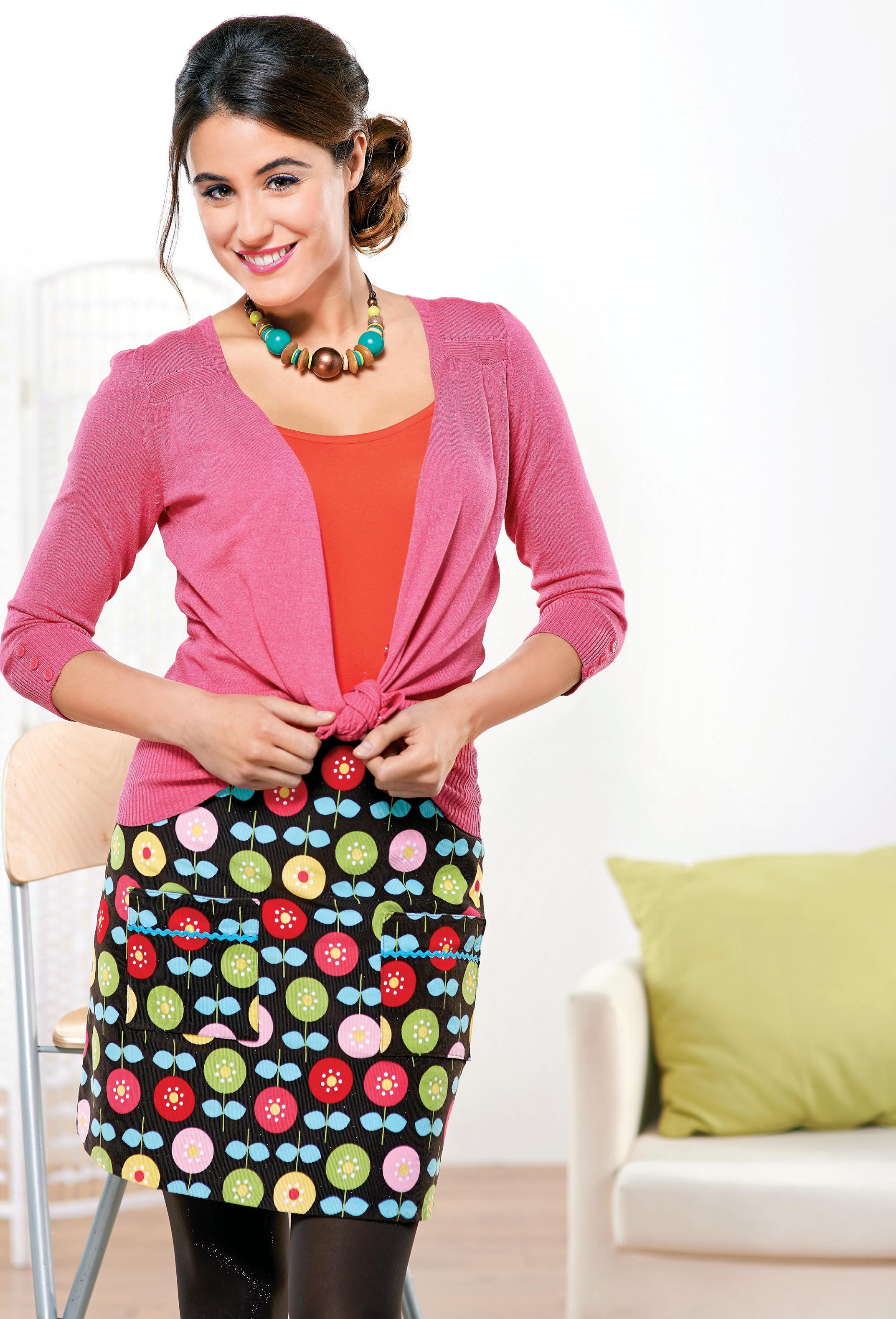 Corduroy Mini Pocket Skirt