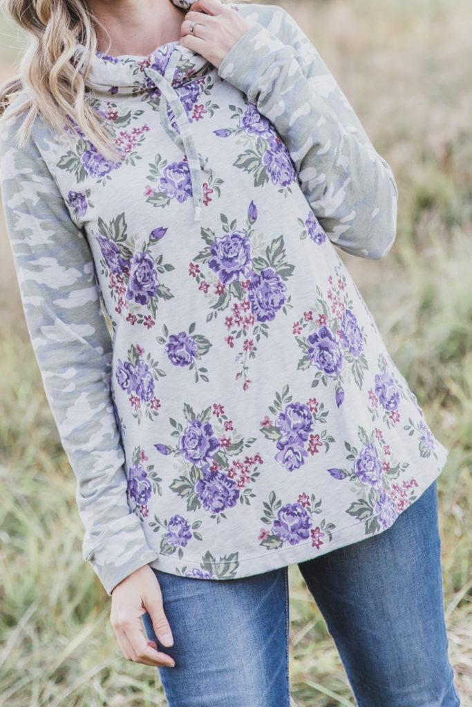 Free sewing pattern: Women's Cowl Neck Hoodie