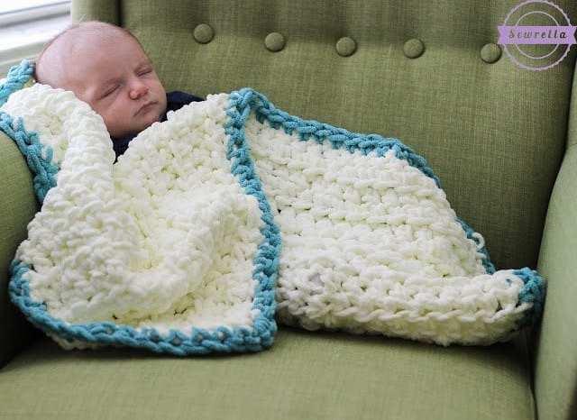 Easy Beginner Baby Blanket Sewrella