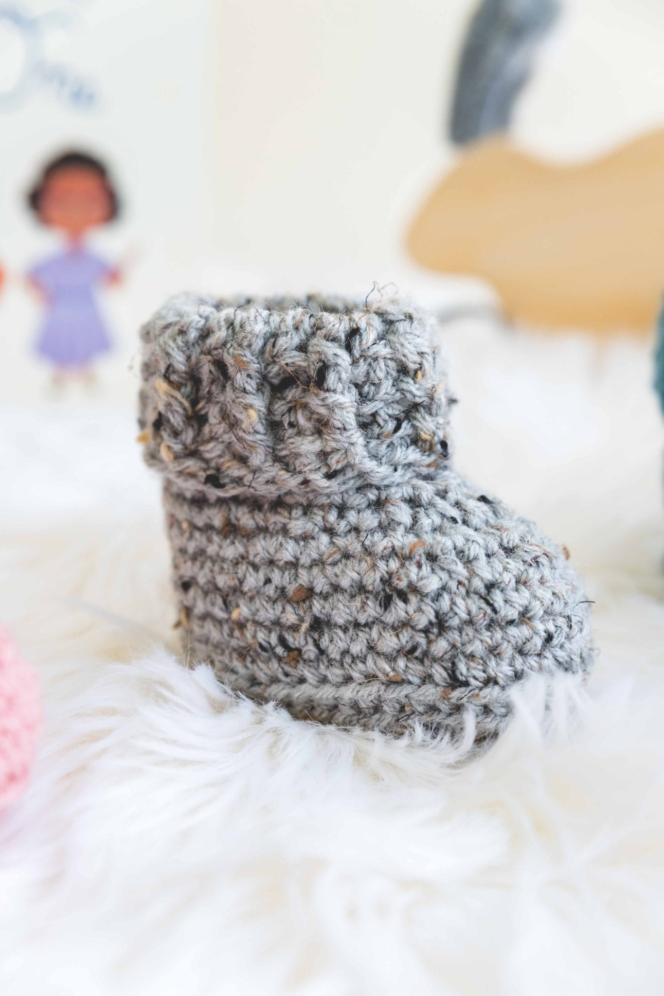ac0fe3a7331a6 The Parker Crochet Baby Booties - Sewrella