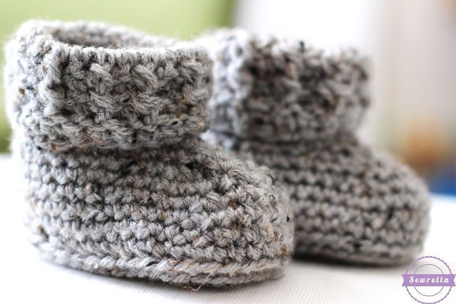 The Parker Crochet Baby Booties Sewrella