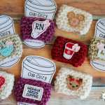 Custom Crochet Cup Cozies Using Felties
