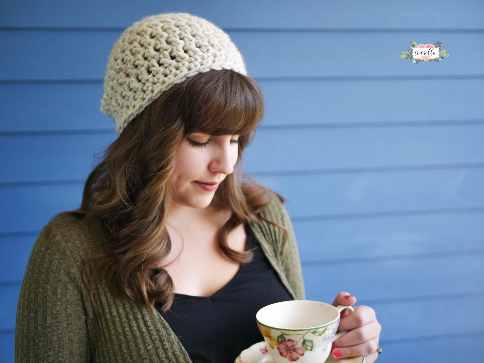 30 Minute Beginner Crochet Slouchy Hat - Sewrella f21c21a68